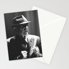 Leonard Cohen concert photo Stationery Cards