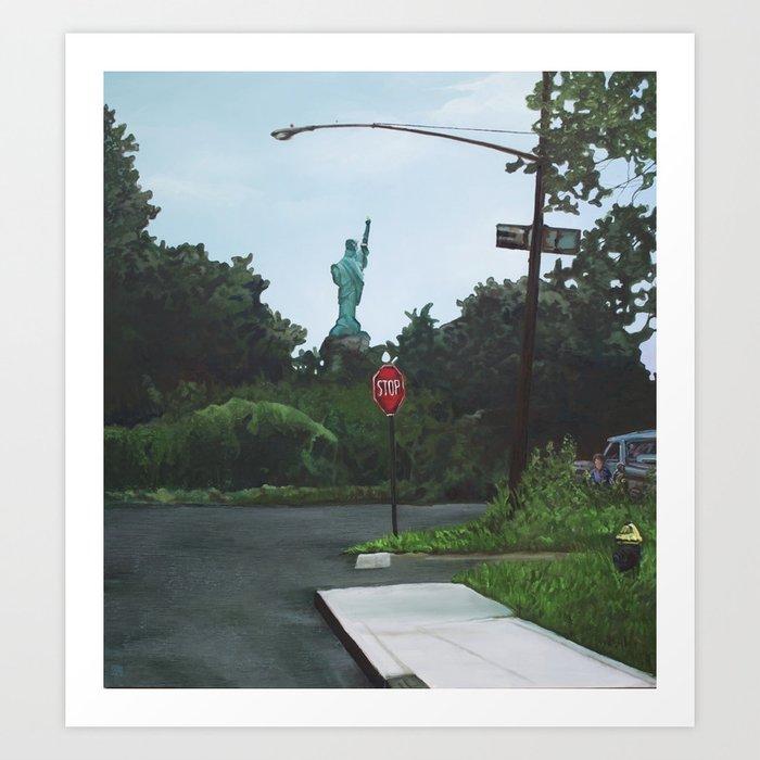 Dead-End Liberty Art Print