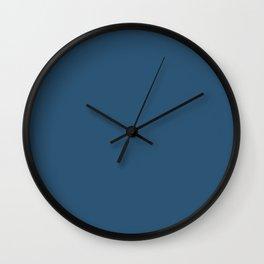 Sleepy Wolf ~ Steel Blue Wall Clock