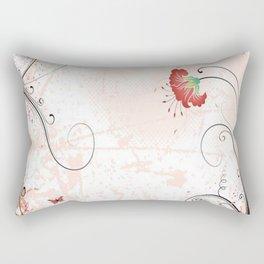 Art Flowers V14 Rectangular Pillow