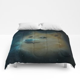 shibe doge in space Comforters