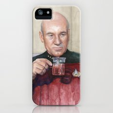 Captain Picard Earl Grey Tea | Star Trek Painting iPhone (5, 5s) Slim Case