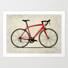 Specialized Racing Road Bike Art Print