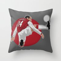 arsenal Throw Pillows featuring Thierry Henry by siddick49