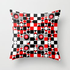 Cute Patterns in red, black and grey Throw Pillow