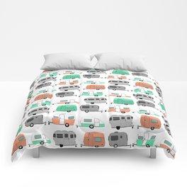 Vintage caravan pattern Comforters