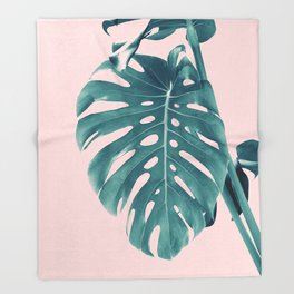 Monstera Delight #3 #tropical #decor #art #society6 Throw Blanket