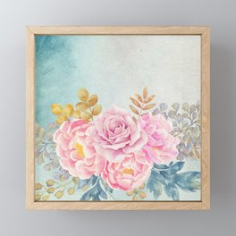 Flowers bouquet 75 Framed Mini Art Print