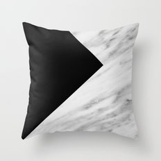 Black Marble Collage Throw Pillow