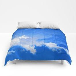 blue cloudy sky std Comforters