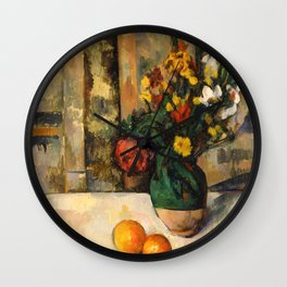 "Paul Cezanne ""Fleurs et pommes (Flowers and fruits)"" Wall Clock"