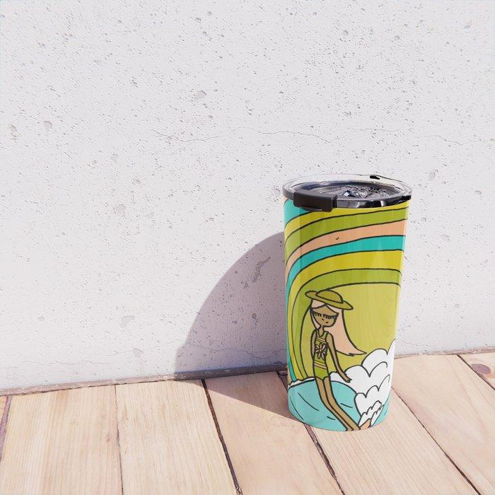 the path to groovy // lady slide by surfy birdy Travel Mug