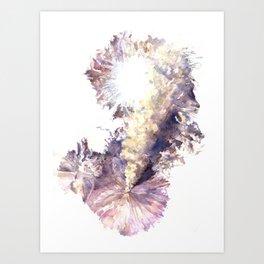 Klyuchevskoy volcano Art Print
