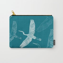 Storms flying - Blue sky print pattern Carry-All Pouch