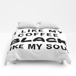 Coffee Black Comforters