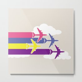 Colorful airplanes Metal Print