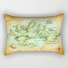 Neverland Map Rectangular Pillow