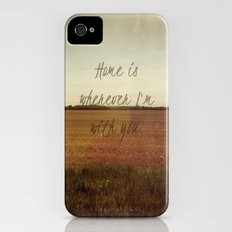 Home is Wherever I'm With You Slim Case iPhone (4, 4s)