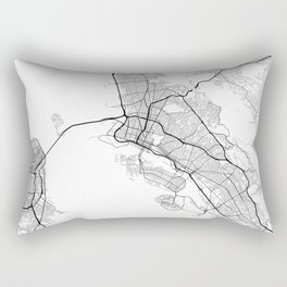 Minimal City Maps - Map Of Oakland, California, United States Rectangular Pillow