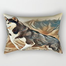 The Siberian Husky Rectangular Pillow