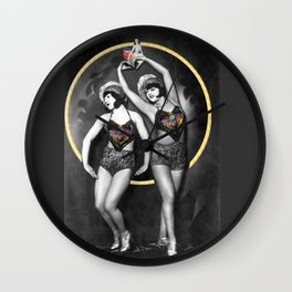 The Fiddlebittery Girls Wall Clock