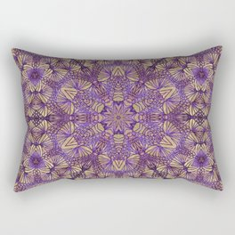 Purple Lace Pattern Rectangular Pillow