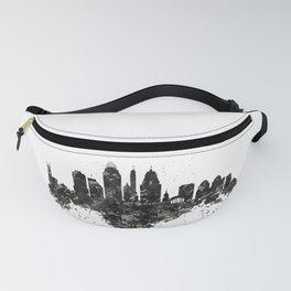 Cincinnati Skyline Black and White Fanny Pack