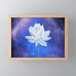 White Lotus Framed Mini Art Print