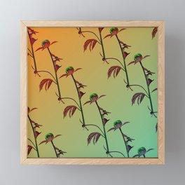 Rose Sun retro gradient color Framed Mini Art Print