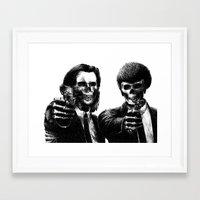 pulp Framed Art Prints featuring Pulp Fiction by Motohiro NEZU