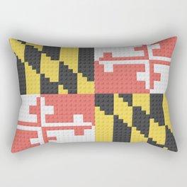 Maryland State Flag Building Block Design Rectangular Pillow