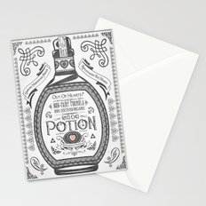 Legend of Zelda Red Potion Vintage Hyrule Line Work Letterpress Stationery Cards