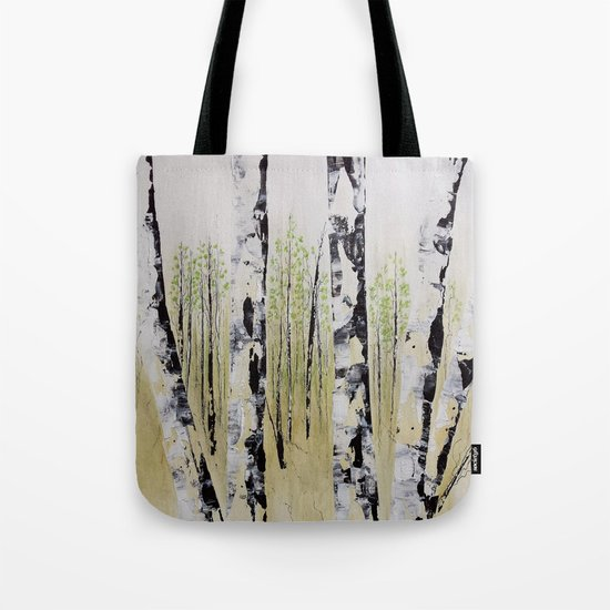 Summer Birch Forest Tote Bag