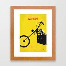 No333 My EASY RIDER minimal movie poster Framed Art Print