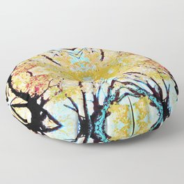 Tree Mosiac Floor Pillow