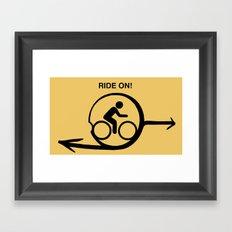 Ride On! Framed Art Print