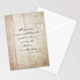 Anna Karenina Quote  As if she were the sun by Leo Tolstoy Stationery Cards