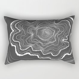 Tree Rings of Grey Rectangular Pillow