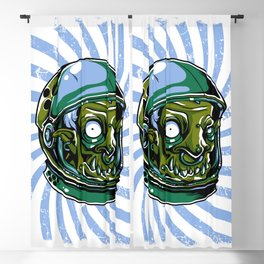 Astronaut Zombie Scary Face - I WAS TAKEN BY ALIENS Blackout Curtain