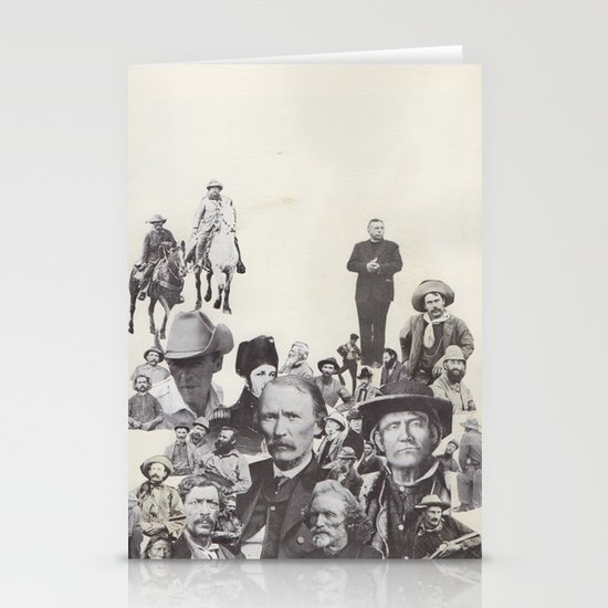 go west young man Stationery Cards