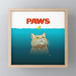 Paws! Framed Mini Art Print