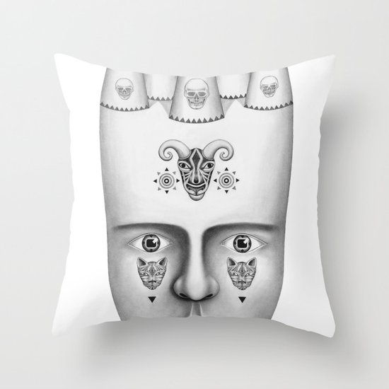 Skulls Throw Pillow