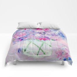 Vase of Wildflowers Comforters