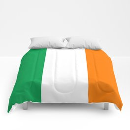 Irish national flag - Flag of the Republic of Ireland, (High Quality Authentic Version) Comforters