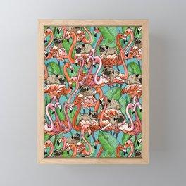 Flamingo Party Framed Mini Art Print