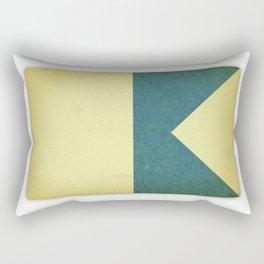 Vintage Nautical Flag Rectangular Pillow