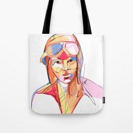 Amelia Earhart by Aitana Pérez Tote Bag