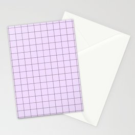 Lilac Grid Pattern Stationery Cards