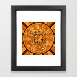 Harley and J Zodiac Orange Framed Art Print