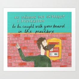 Beard in the Mailbox Art Print
